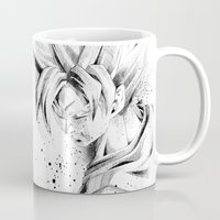 dragonball z Mugs featuring Dragonball Z - Honor by Straife01