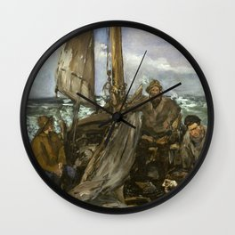 Manet - The Toilers of the Sea,1873 Wall Clock