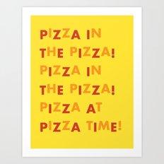 Pizza Theme Song Art Print
