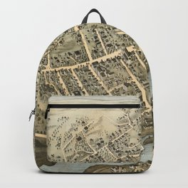 Vintage Pictorial Map of Norwalk Connecticut (1875) Backpack