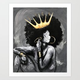 Naturally Queen VI Art Print
