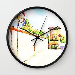 L'Aquila: mirror, wall and city gate Wall Clock