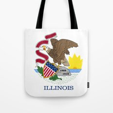 State flag of Illinois Tote Bag