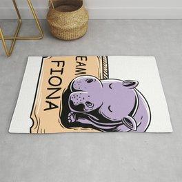 Feeling Hip Preemie Baby Hippo Fiona Team Fiona  Rug