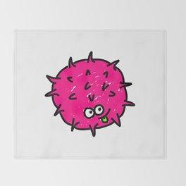 Pink Doodle Germ Throw Blanket