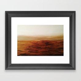 Desert Waves Framed Art Print