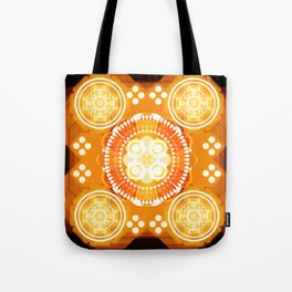 Fire illusion Tote Bag