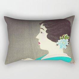 Mushikago - Insect Cage - Japanese Art Rectangular Pillow