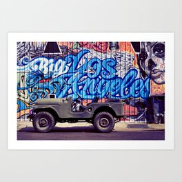 Big Los Angeles Graffiti Art Print