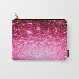 Galaxy Bubblegum Pink Ombre Stars Carry-All Pouch