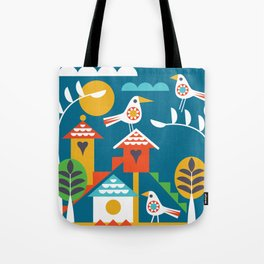 BIRDY TOWN Tote Bag