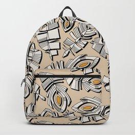 deco feathers buff saffron Backpack