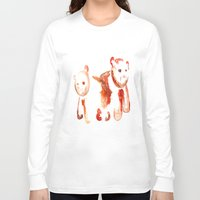 bears Long Sleeve T-shirts featuring Bears by 5CUZ1