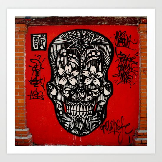 graffiti skull  Art Print