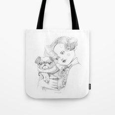 Vintage pug Tote Bag