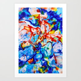 Milkblot No. 9 Art Print