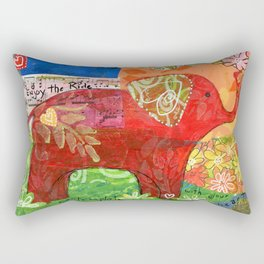 Contemplate with the Heart Rectangular Pillow