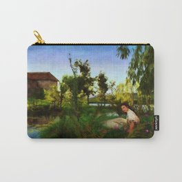 WILDFLOWERS Impressionist Landscape Carry-All Pouch
