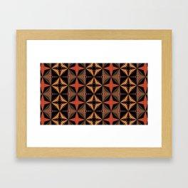 Warm Quilt Pattern Framed Art Print