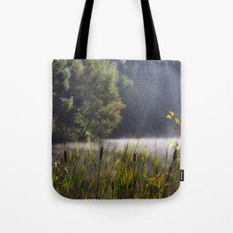 Autumn Mist at Mallards Pike Tote Bag