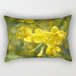 Fragrant Yellow Flowers Of Carolina Jasmine Rectangular Pillow