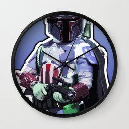 Captain Fett Wall Clock