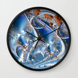 Postal service - An abstract fractal illustration Wall Clock