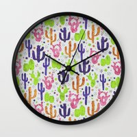 succulents Wall Clocks featuring Succulents by 83 Oranges™