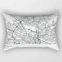 Newcastle Upon Tyne, United Kingdom - City Map Rectangular Pillow