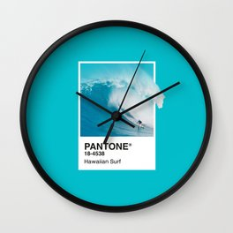 Pantone Series – Hawaiian Surf Wall Clock
