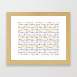Colorful Bicycles Framed Art Print