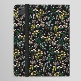 Spring Bloom Black iPad Folio Case