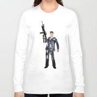 montana Long Sleeve T-shirts featuring Tony Montana by Ayse Deniz