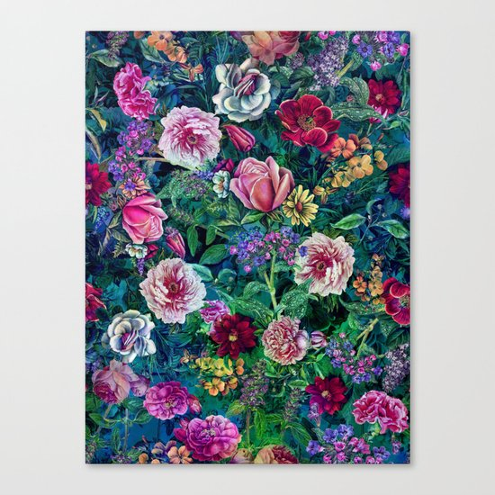 Botanical Flowers II Canvas Print