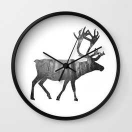 Moose Silhouette | Forest Photography Wall Clock