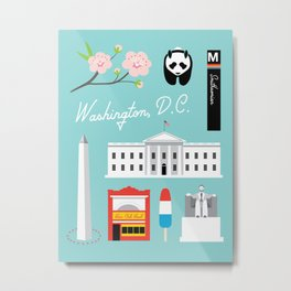 Washington, D.C. Art Print Metal Print