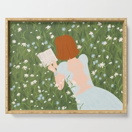 Reading in a Meadow  Serving Tray