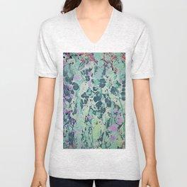 Sunken Forest marbleized print Unisex V-Neck