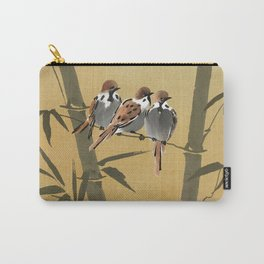 Three Sparrows In Bamboo Tree Carry-All Pouch