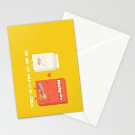 You Are The Milk To My Cereal Stationery Cards