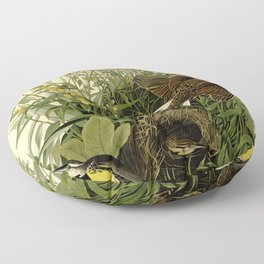 Meadow Lark (Sturnella magna) Floor Pillow