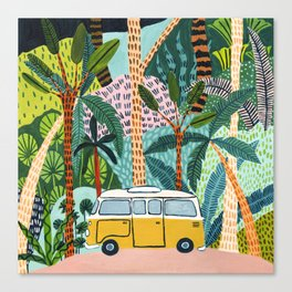 Jungle Camper Canvas Print