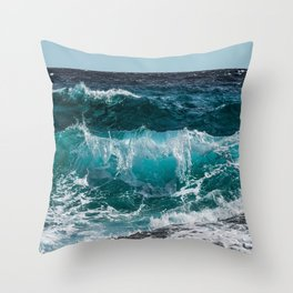 Breakers Rolling In To Shore Throw Pillow