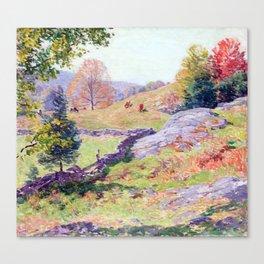 Willard Metcalf Hillside Pastures—September Canvas Print