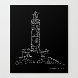 Carlton Hill, Edinburgh in one continuous line Canvas Print