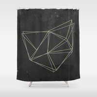geo Shower Curtains featuring Geo by Last Call