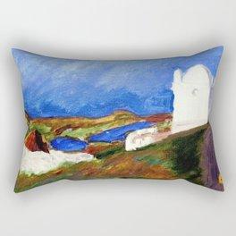 Una Vista de Ardales Rectangular Pillow