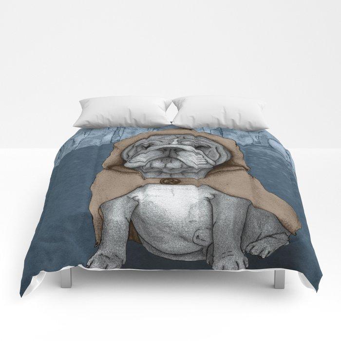 English Bulldog in Stonehenge Comforters