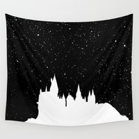 hermione Wall Tapestries featuring Hogwarts Space by IA Apparel