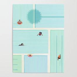 Saturdays At The Pool Poster